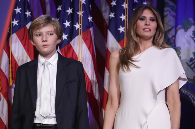 Image: Barron Trump and his mother Melania Trump