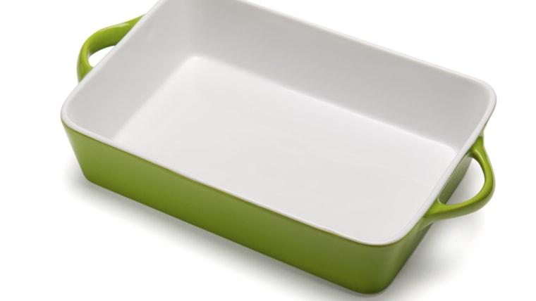 Empty casserole dish