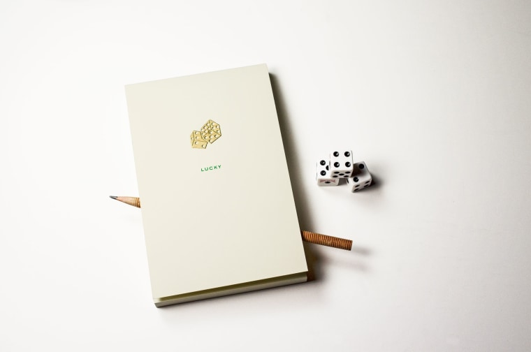A classy writing pad for jotting down sports cores and deep thoughts.