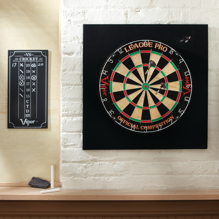 This dart board hits the bullseye!