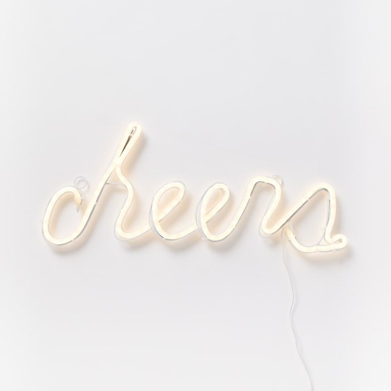 Light up the walls with this stylish sign.