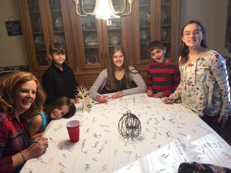 Why this family's scribbled-on tablecloth is a tradition you will want to steal