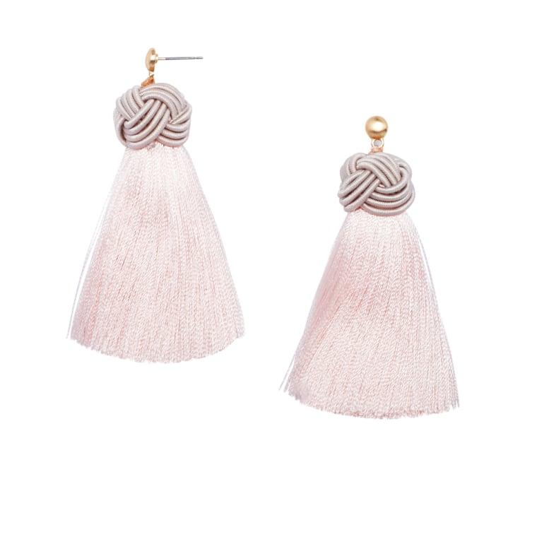 HART rose tassel earrings
