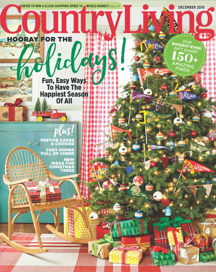 Country Living December 2016 issue