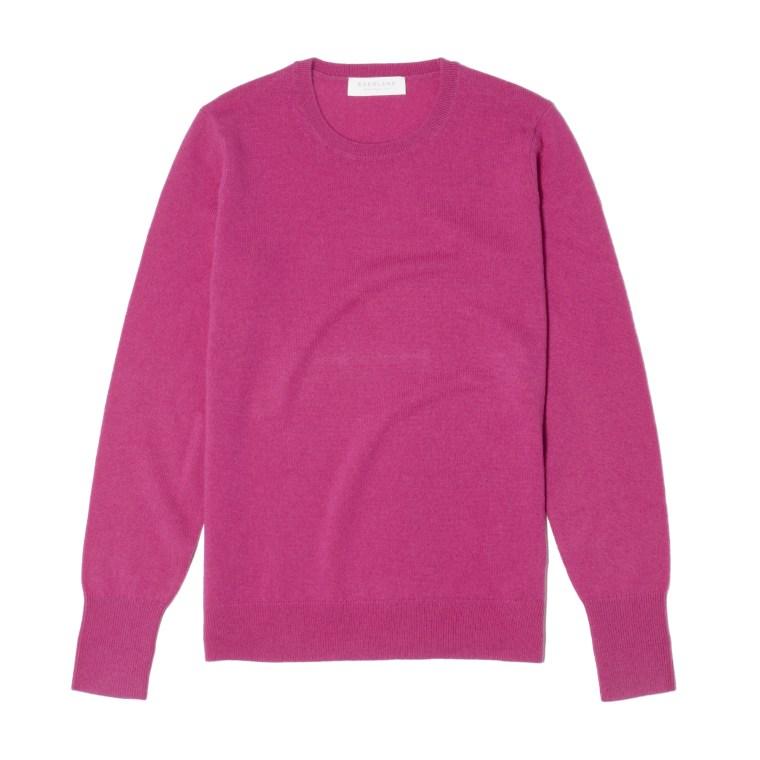Everlane cashmere crewneck sweater azalea