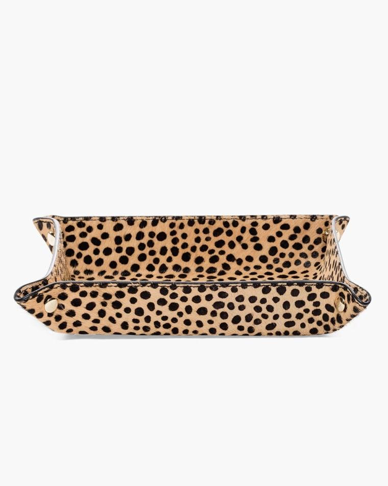 chico's cheetah print travel tray