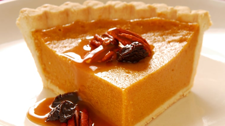 Freshly baked pumpkin pie with pecans, cranberries and a carmel sauce; Shutterstock ID 17030218; PO: TODAY.com; Other: Mike Smith