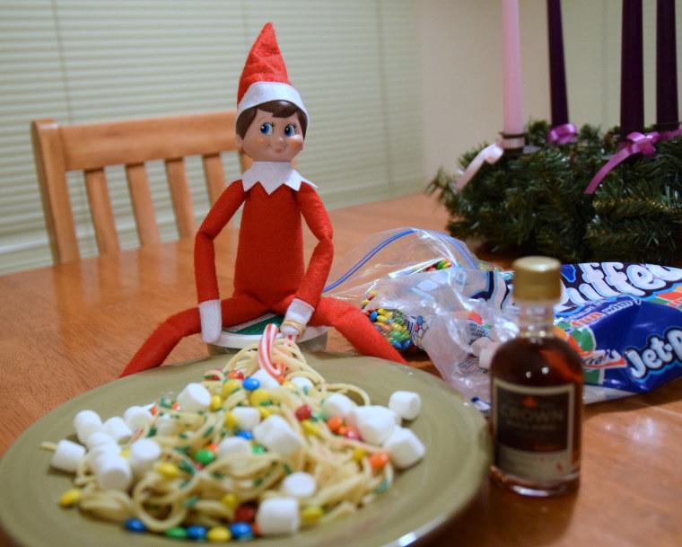 Elf on the Shelf spaghetti