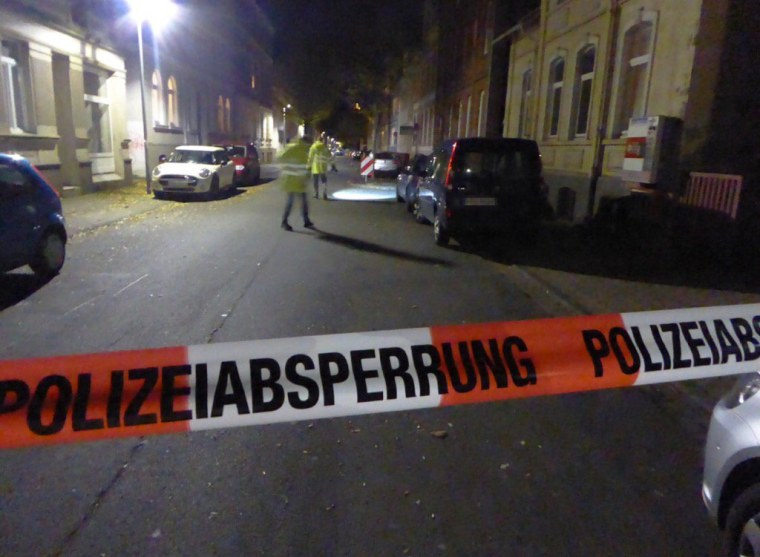 Image: Scene where woman was found after being dragged by a car in Hamelin