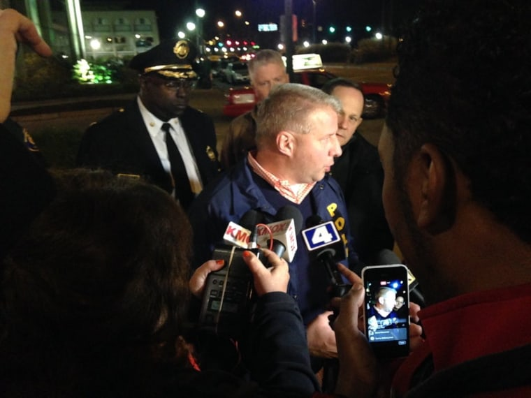 Image: Police chief Sam Dotson briefed reporters.