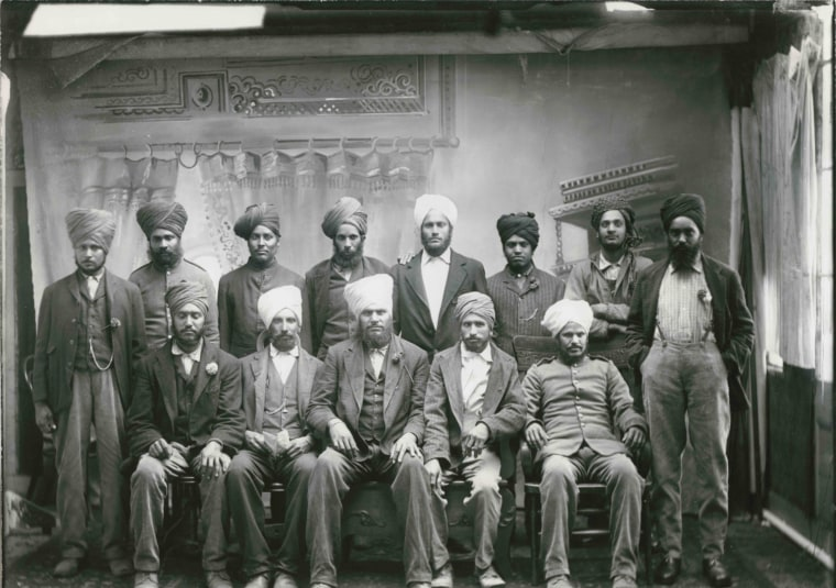 Sikh pioneers in California, circa 1910.
