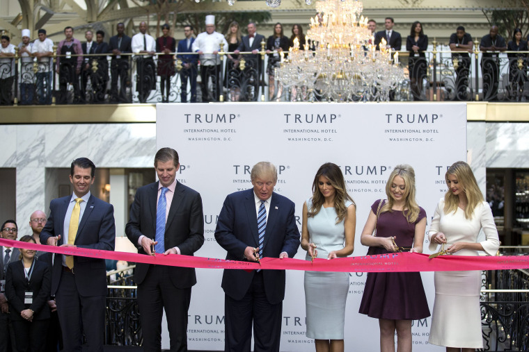 Image: Republican Presidential nominee Donald Trump participates in ribbon cutting ceremony for Trump International Hotel