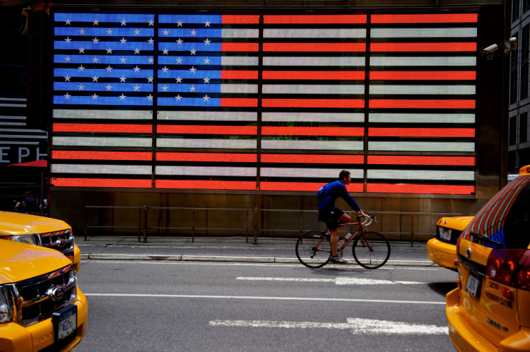 Image: Rethinking the American flag, New York, USA