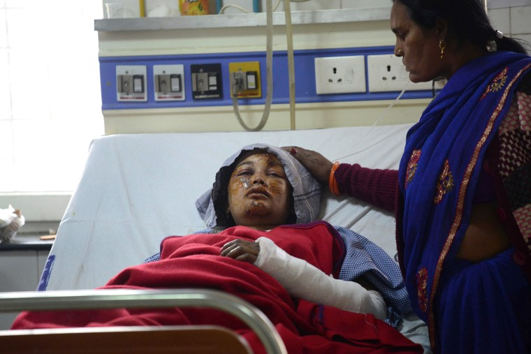 Image: TOPSHOT-INDIA-ACCIDENT-TRAIN