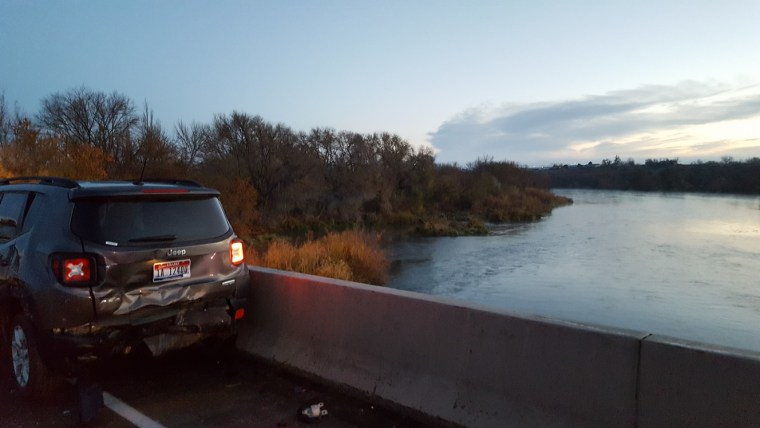 Driver Thrown Over Bridge Into Icy River After Stopping to Help on I-84