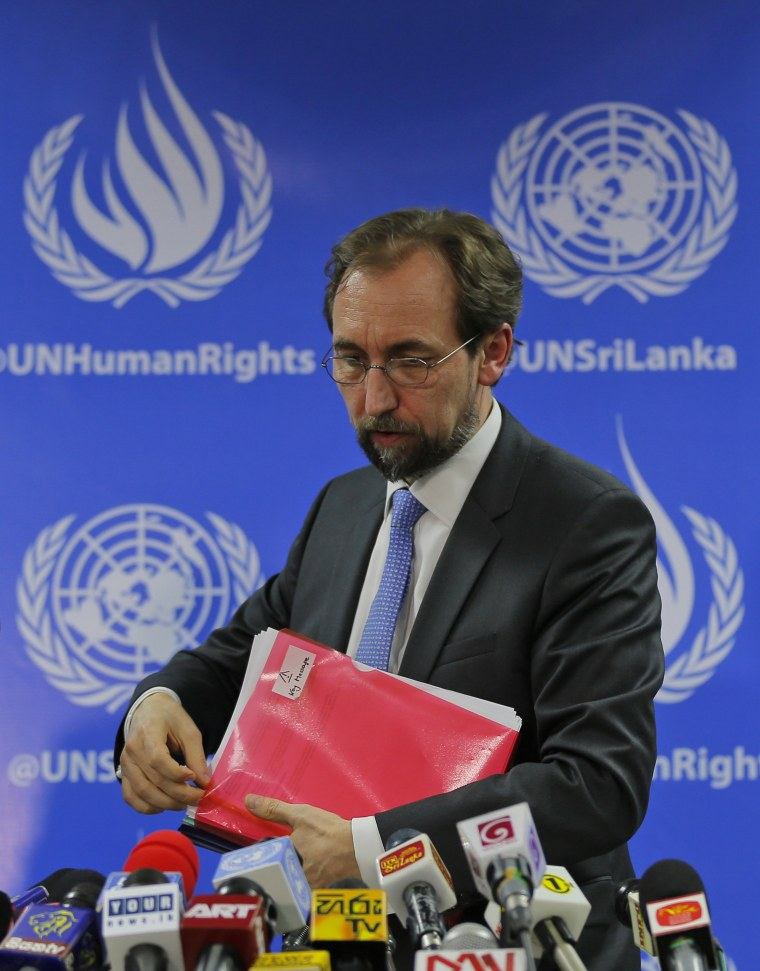 IMAGE: U.N. High Commissioner for Human Rights Zeid Ra'ad al-Hussein