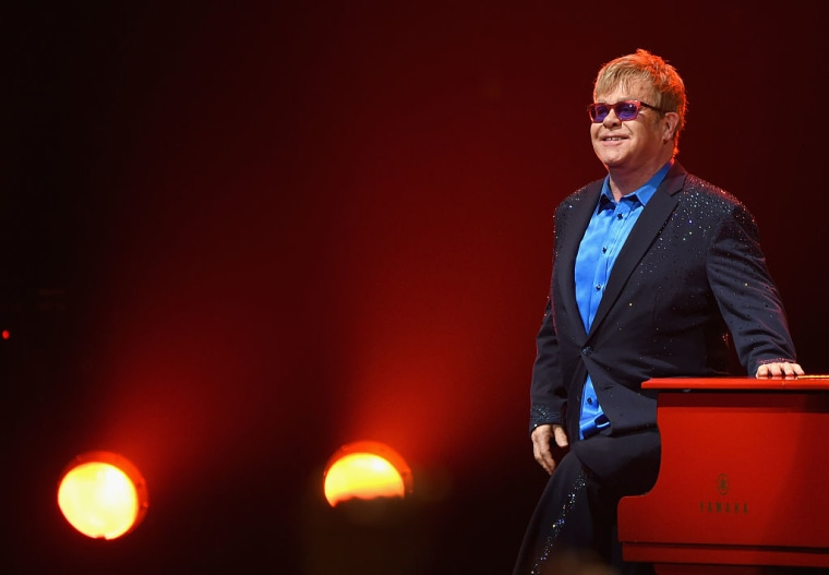 Elton John on January 13 at the Wiltern in Los Angeles
