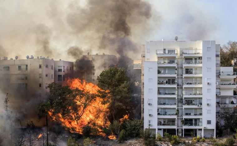 Image: TOPSHOT-ISRAEL-FIRE-HAIFA