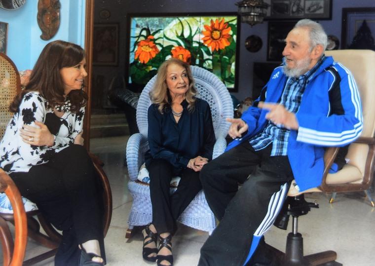 Image: Cristina Fernandez, Fidel Castro, Dalia Soto del Valle