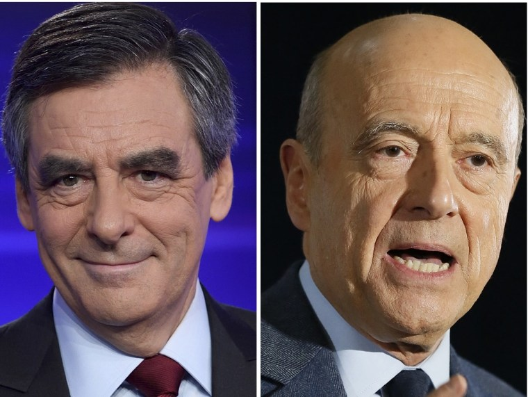 IMAGE: Francois Fillon and Alain Juppe