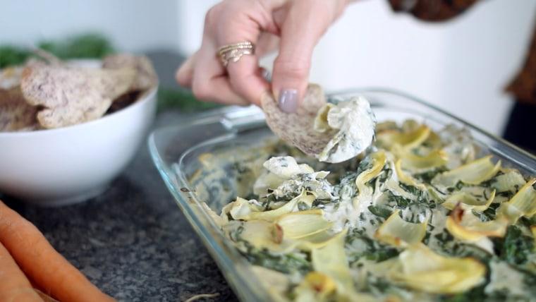 Spinach Artichoke Dip with Crudites