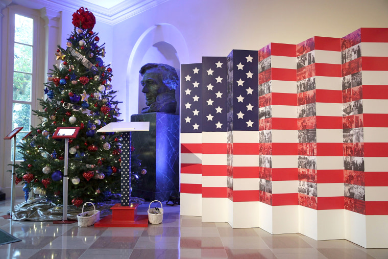 White House Christmas Display 2016