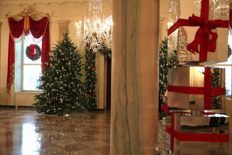 the white house is decorated for the 2016 holiday season - White House Christmas Decorations 2016
