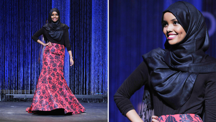 Halima Aden Competes in Hijab at Miss Minnesota USA Pageant