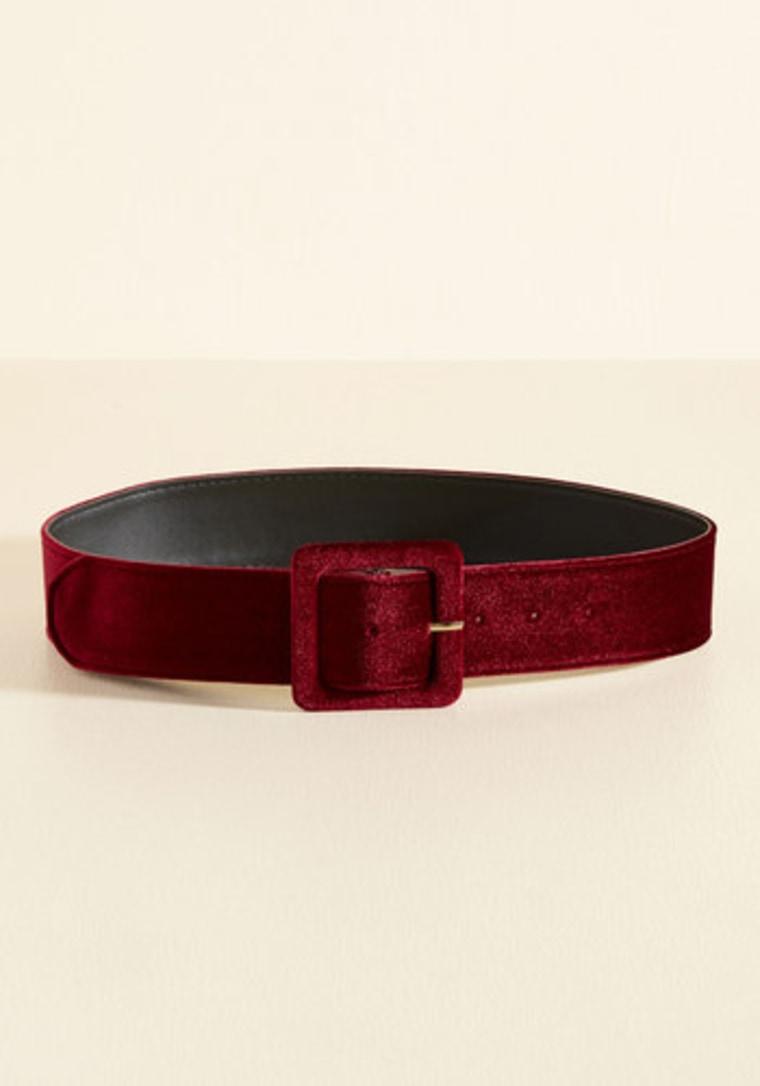 Velvet belt