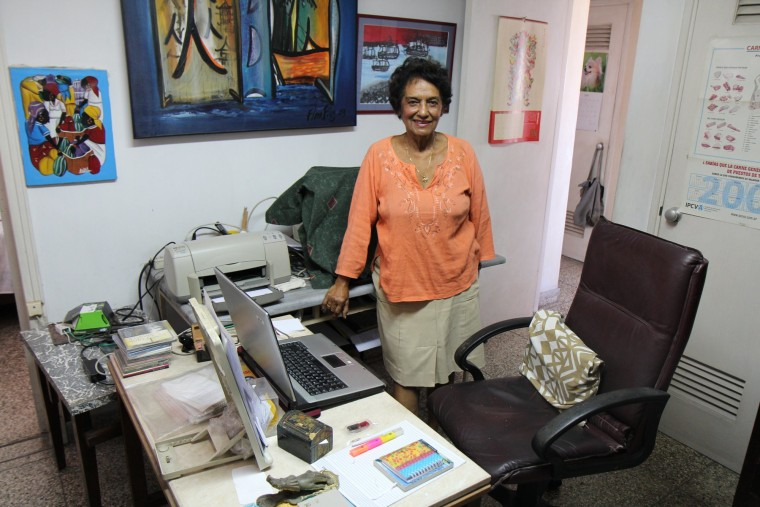 Marta Rojas is a journalist and writer who covered Fidel Castro's trial in 1953 for his failed attack on the Moncada Barracks.