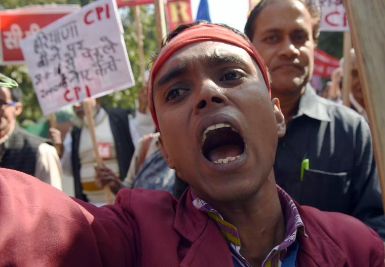 Image: INDIA-POLITICS-PARLIAMENT-GANDHI