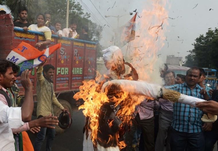 Image: INDIA-POLITICS-STRIKE
