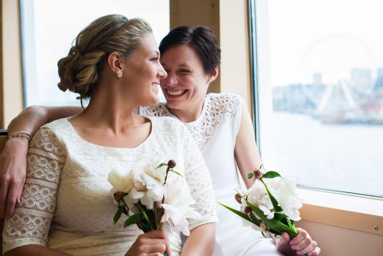 Unique Lesbian Wedding on a Ferry Boat