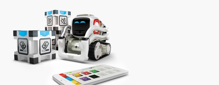 This pint-sized, playful robot with built-in artificial intelligence recognizes faces and says your name.
