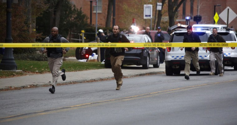 Image: Police respond to reports of an attack on campus at Ohio State University on Monday