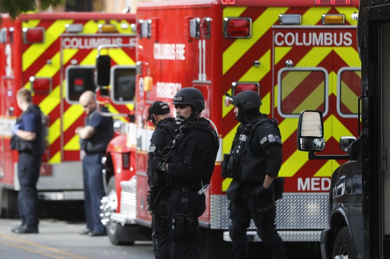 Image: SWAT teams and police respond to reports of a shooting on campus at Ohio State University