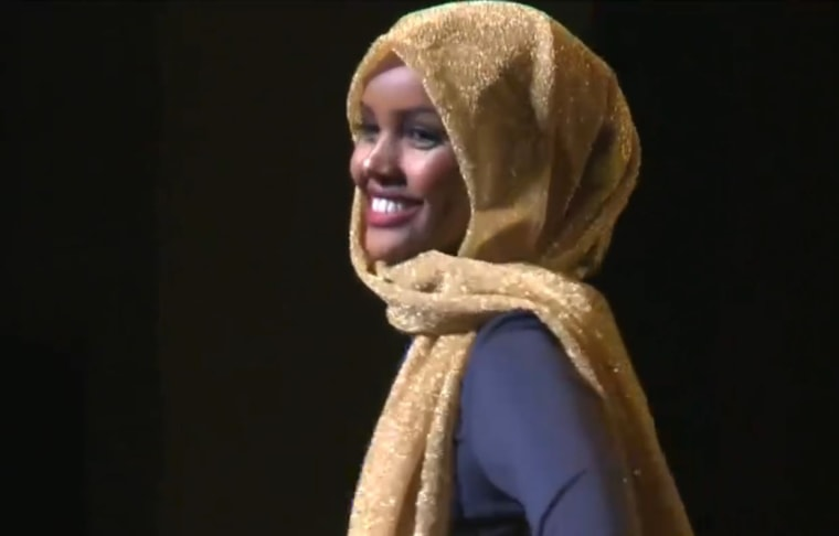 Halima Aden, a Somali-American teen who opted for traditional attire at Miss Minnesota USA pageant.