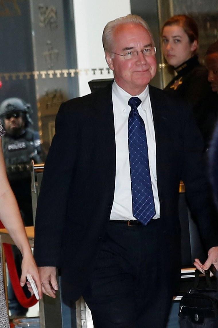 Image: U.S. Representative Tom Price (R-GA) arrives at Trump Tower in New York