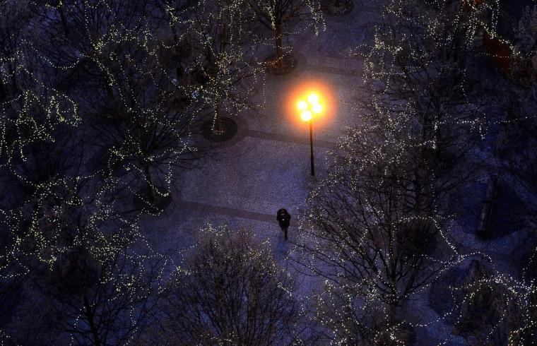 Image: TOPSHOT-CZECH-CHRISTMAS-LIGHTS