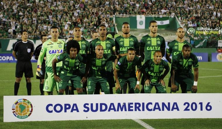 Image: Chapecoense soccer team on Nov. 23