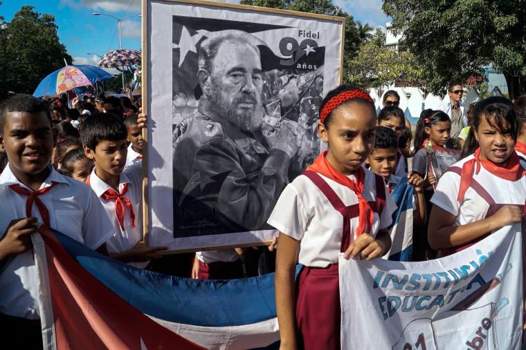 Image: TOPSHOT-CUBA-CASTRO-DECEASE-MEMORIALS