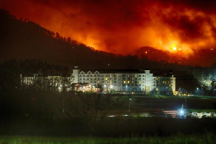 IMAGE: Fire near Dollywood Resort