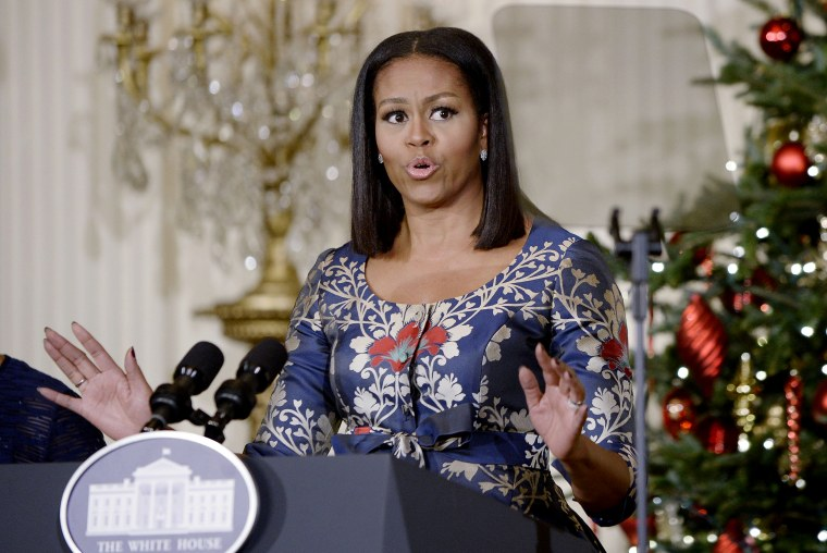 Image: Michelle Obama Hosts Military Families For Holiday Gathering At White House