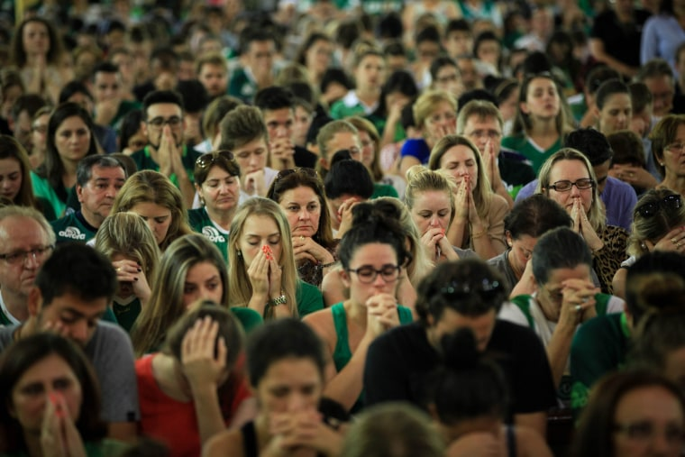 Image: Chapecoense fans attend a mass for victims of plane crash