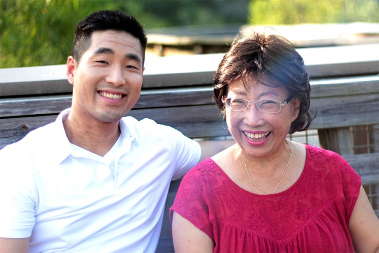 Sam Park and his mother.