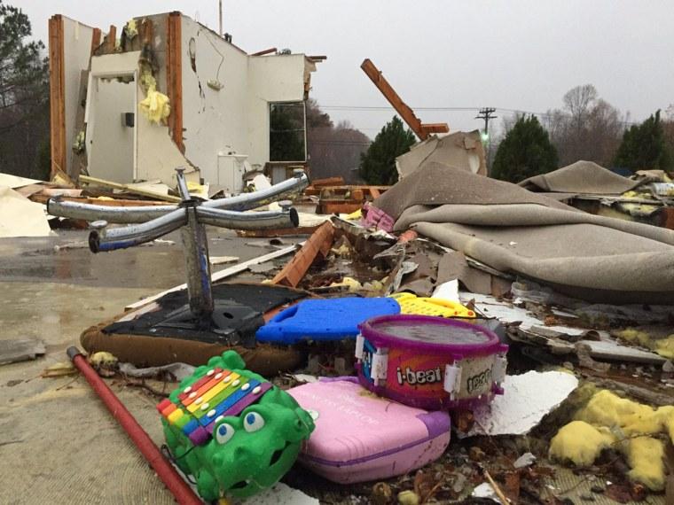 Image: Damage at Ider Daycare in Flatrock, Alabama