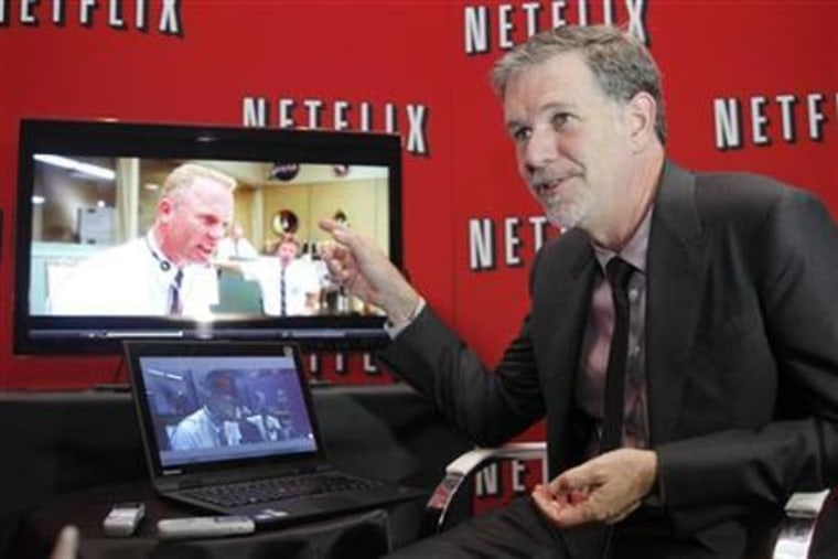Netflix's Chief Executive Officer Reed Hastings speaks during an interview with Reuters in Buenos Aires
