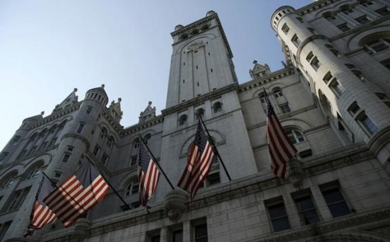 Old Post Office Building is seen at ground breaking of new hotel in Washington