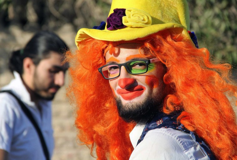 Syrian social worker Anas al-Basha, the 'Clown of Aleppo'