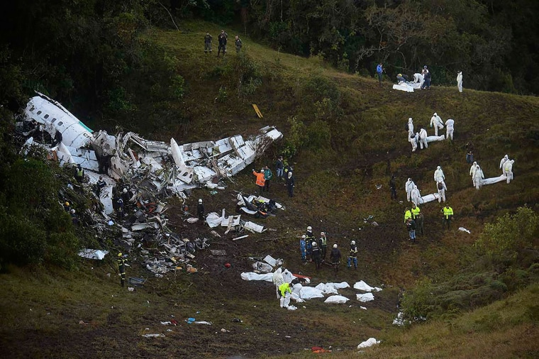 Image: COLOMBIA-PLANE-ACCIDENT-FBL